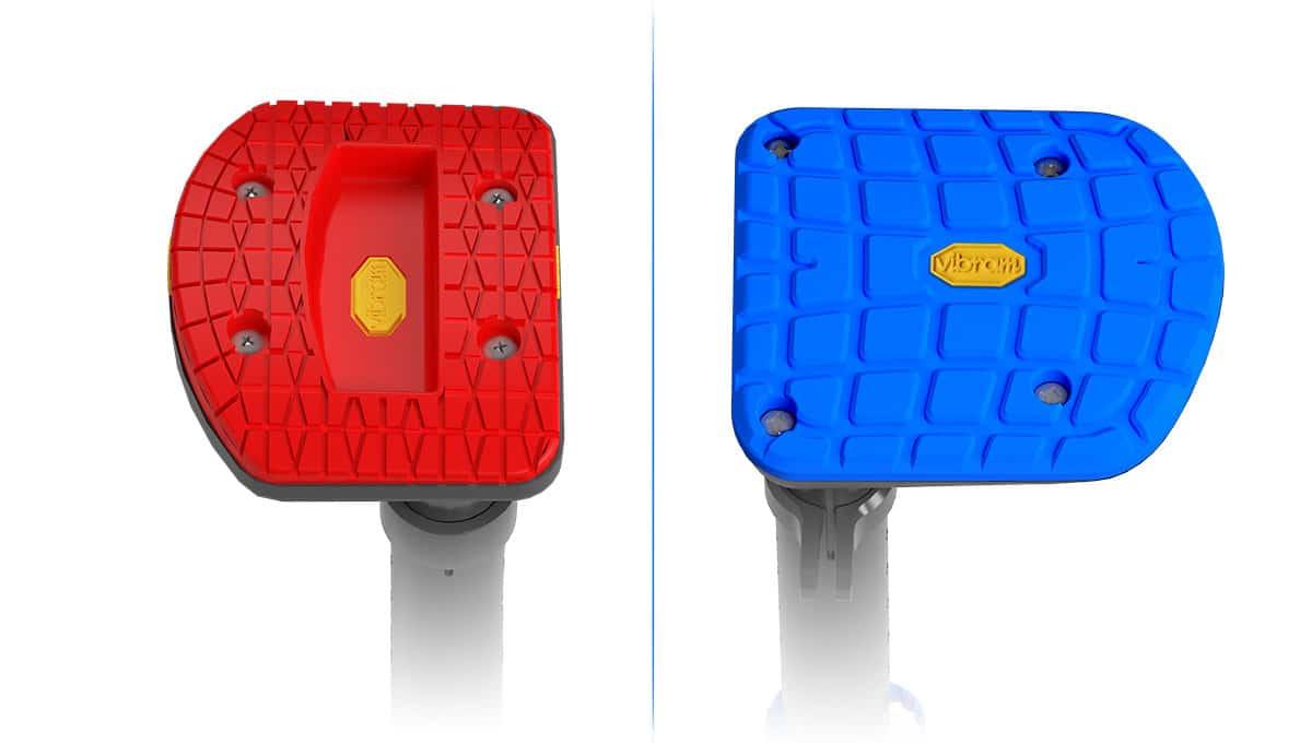 iWALK2.0 vs iWALK3.0 foot tread size comparison