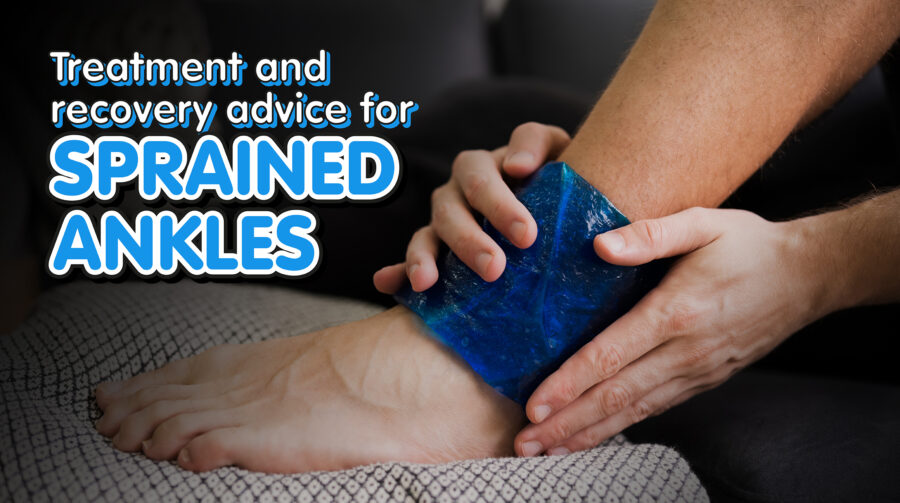 Person Applying Ice Gel Pack On Ankle