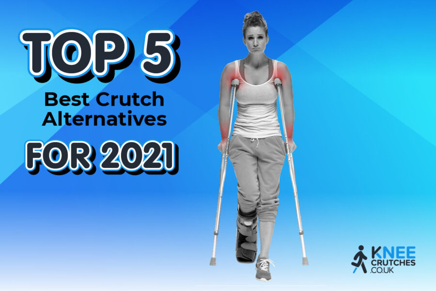 female with crutches best alternative for crutch pain